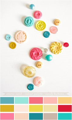 this would crochet into something happy!  colour palette : candy buttons... by emma lamb (a wee bit behind), via Flickr