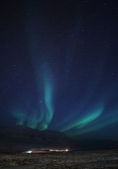 Northern Lights in Svalbard, Norway