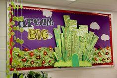 Love her classroom decor - Wizard of Oz theme
