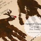 Handprint Reindeer, Ornaments, and Poem {free printable} christma activ, pin hollow, handprint reindeer, christma theme, christma kid, winter craft, christma parti
