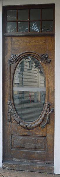 .beautiful wood door