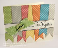 Ribbon style card...I like the real ribbon and button.