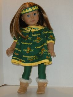 American Girl Oregon Duck outfit by SuzieQsKloset on Etsy, $22.50 #GoDucks