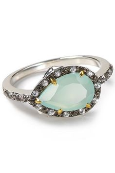 This teardrop ring is anything but traditional