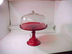 Mosser Red 12.25 Pedestal Cake Plate