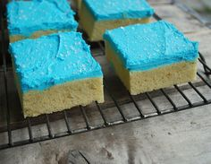 Sugar Cookie Bars! Sugar Cookies made easy! Change the frosting color to fit any occasion!