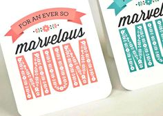 Cute idea for Mother's Day cards.