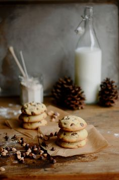 Chocolate and peanut butter chip soft and chewy cookies