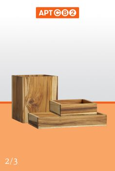 Perfect for the outdoor shower. Love the classic look of the teak. Stack 'em up with the #APTCB2 Collection at www.cb2.com/APTCB2