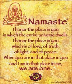 The Namasté Technique! Behold the Divine, the Good, the God-ness within every person you encounter. (Note to self: This is easier with some people than others -- but important to do with everyone!)