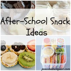 10 Easy, Healthy After School Snacks for Kids!