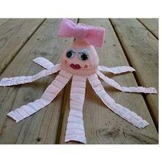 bottl octopus, diy crafts, camp ideaskid, craft website, craft idea, craft projects, octopuses, kid crafts, water bottles