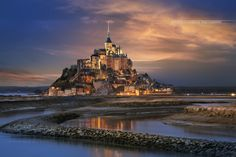 Le Mont Saint Michel, Normandie France by GAUDENCIO Antonio