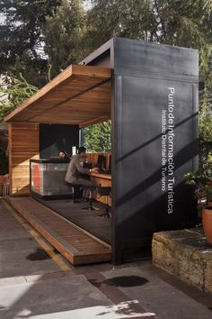 Bogotá Tourist Info Pavillion-Juan Melo, would be great grilling canopy or sitting area for contemporary home.