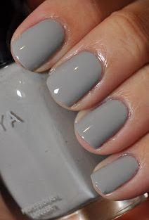 Simple gray nails