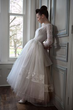 Heavenly Vintage Brides 50s tulle and lace Wedding Dress