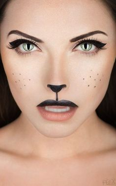 pretty cat make up..