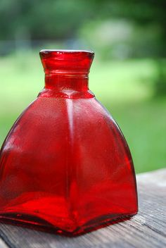 Colored Glass - Red Bottle