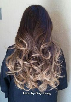 Wow, beautiful bayalage/ombré with cascading curls!