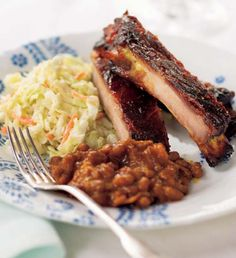 Barbecued Pork Ribs; Trisha Yearwood