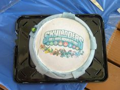 A Skylanders cake from our Facebook fan Cicely! Thanks for the submission! Use the hashtag #SkylandersCake and maybe we'll repin yours!