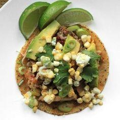 Spicy Chicken Tacos With Corn, Feta, and Avocado