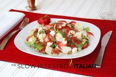 fat healthi, food, mozzarella salad, strawberries, healthi diet, slow roasted italian salads, strawberri balsam, recip, balsam vinaigrett