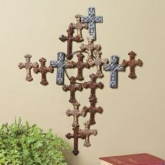 Crosses on pinterest cross walls cross wall decor and wall crosses Home decor wall crosses