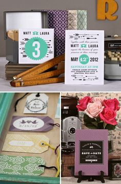 cool colour combo and quirky invites