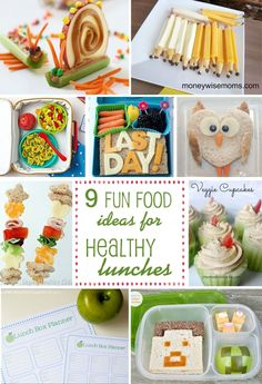 9 healthy lunch box ideas | via blog.thecelebrationshoppe.com