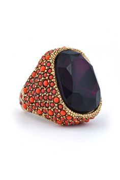 kenneth jay purple princess ring