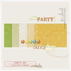 Party On #freebie tiny kit from Lydia Designs #scrapbook #digiscrap #scrapbooking #digifree #scrap