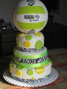 Volleyball Cake Check out this years newest Volleyballs. Volleyball is a great way to keep the entire body in shape. Consider taking up the sport today.