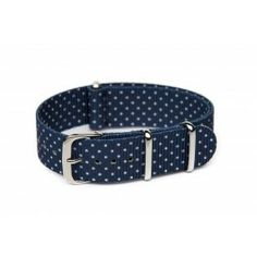 Patterned Nato watch strap- Dotted $15.00