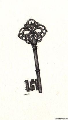 Pin Antique Skeleton Key Tattoos Otugunesa On Pinterest | See more about skeleton key tattoos, skeleton keys and key tattoos.