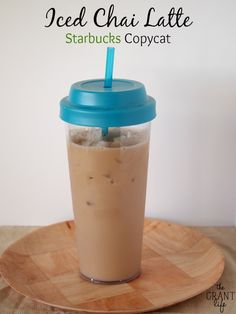 Iced Chai Latte - Starbucks Copycat Recipe!  Two ingredients makes this flavorful copycat drink.  And saves a ton of money too! #recipes #coffee #starbucks #copycat