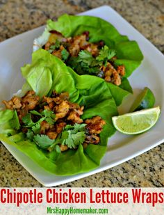 These Chipotle Chicken Lettuce Wraps came together when I was trying to make a meal out of things I already had on hand, & boy - I'm so glad they happened! Low calorie, healthy, & absolutely amazing!