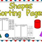 This FREE packet includes three practice pages for students to sort both 2-d and 3-d shapes.
