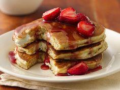 breakfast recip, yummi breakfast, cheesecakes, bisquick recipes pancakes, food, berry cheesecake recipes, cheesecake pancakes, cheesecak pancak, breakfast idea