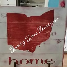 Red/white Ohio state sign
