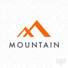 mountain and clouds logo on pinterest graphic design logo design and logo