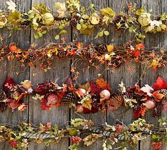 Decorate with gorgeous garland.