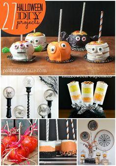 27 Happy Halloween DIY Projects -- Tatertots and Jello