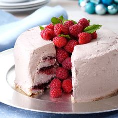 Chocolate Raspberry Angel Food Torte #food #recipes
