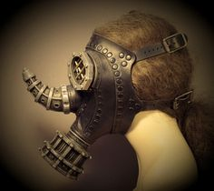 Rhino Gas Mask  Steampunk Leather par TomBanwell sur Etsy, $375,00
