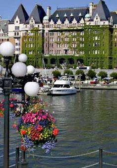 Inner Harbour, and Empress Hotel in the background - Victoria BC Canada