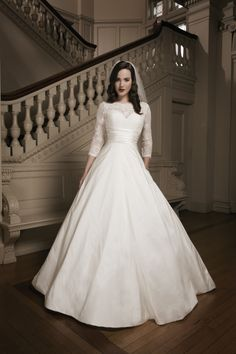 Justin Alexander #white #wedding #dress