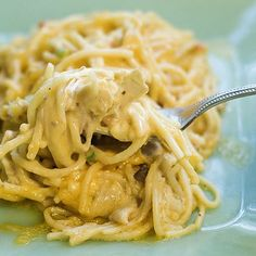 Chicken Spaghetti - freeze up half for a quick second meal.