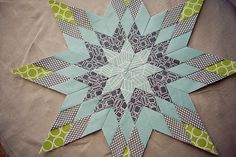 Pillow Talk Swap - finished star by Traci Turchin, via Flickr beauti patchwork, paper pieced quilt blocks, star quilt, beauti block, color combinations, beauti star, mosaic quilt, absolut fabul, simpli beauti
