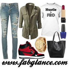 """#OOTD: Hustle & Fro on the go"" by fabglance on Polyvore"